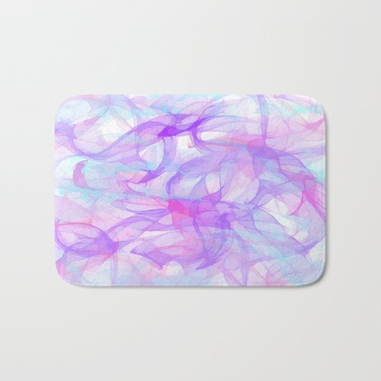 Soft Veils Of Color Abstract Bath Mat