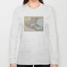 Vintage Map of The Gulf of Mexico (1732) Long Sleeve T-shirt
