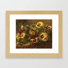 Henri Fantin-Latour - Pansies Framed Art Print