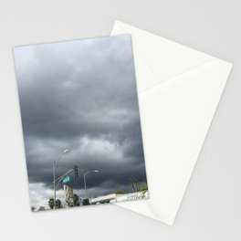 clouds falling Stationery Cards
