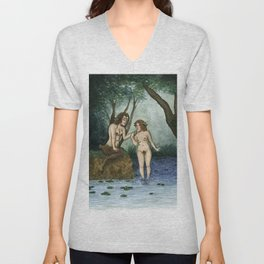 Satyr and Nymph Unisex V-Neck
