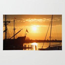 Boat Sunrise 1 Rug