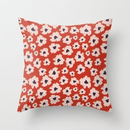 Camofloral Throw Pillow