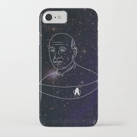 picard iPhone & iPod Cases featuring Captain Jean-Luc Picard by lunsh