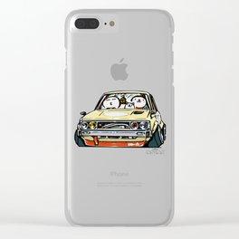Crazy Car Art 0148 Clear iPhone Case