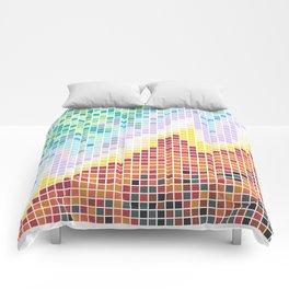 Pixelated Nebula Red Comforters