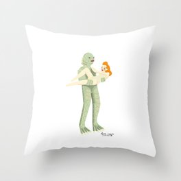 The Creature from Black Lagoon Throw Pillow