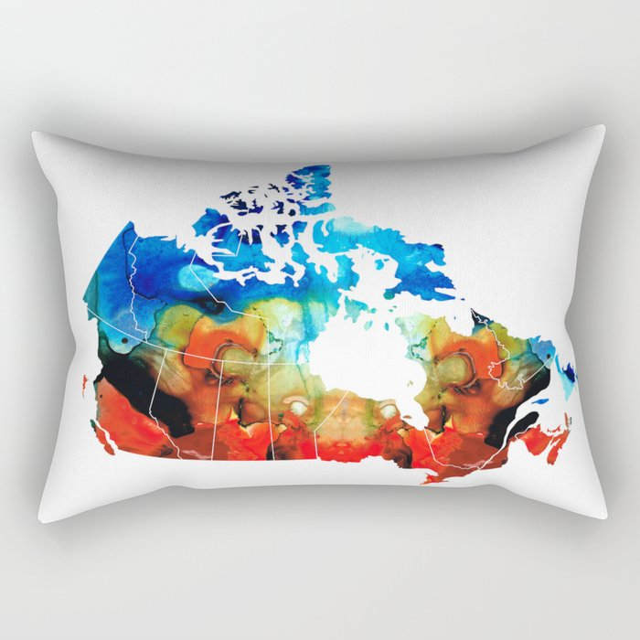 Canada - Canadian Map By Sharon Cummings Rectangular Pillow