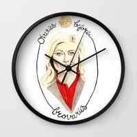 leslie knope Wall Clocks featuring You're the Leslie Dopest by Maxime Zech