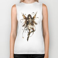 fairy Biker Tanks featuring fairy by Vector Art