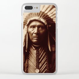 Three Horses by Edward S. Curtis (1905) Clear iPhone Case
