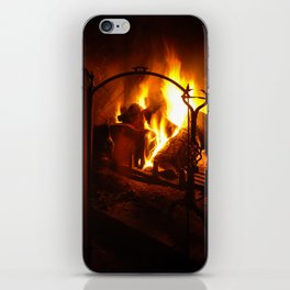 Log Fire iPhone Skin