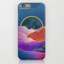Rainbow mountains & gold iPhone Case