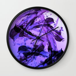 Ferocious And Calming Lavender Abstract Wall Clock