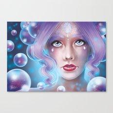 Lady Bubble Canvas Print
