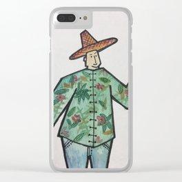 Tropical Farmer Clear iPhone Case