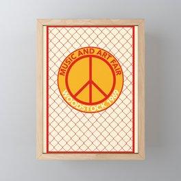 WOODSTOCK MUSIC AND ART FAIR 1969 Framed Mini Art Print