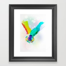 Forget the Words Framed Art Print