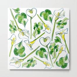 Aah, Lilies! Metal Print