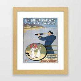 Vintage poster - Coast Line Rail Motor Services Framed Art Print