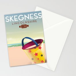 Skegness lincolnshire beach travel poster. Stationery Cards