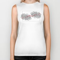 moulin rouge Biker Tanks featuring Fil rouge by Dejavu