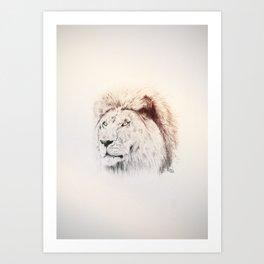 Brian the Lion Art Print