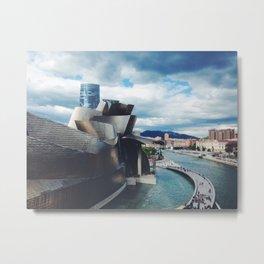 The Guggenheim Museum Bilboa (Frank Gehry Architecture)  Metal Print