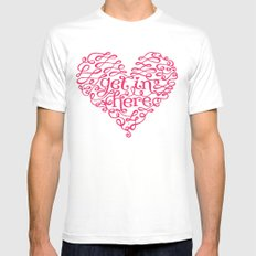 Get In My Heart Mens Fitted Tee SMALL White