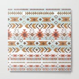 Full Moon Boho Tribal Metal Print