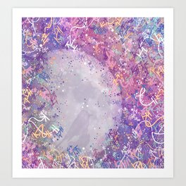 Mysterious Moon Reverie Art Print