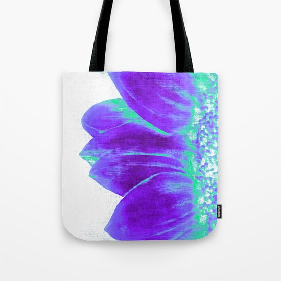 Sunflower Bright Violet & Mint Green Tote Bag
