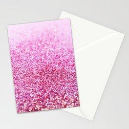 Pink Mermaid Glitter Glam #1 (Faux Glitter) #shiny #decor #art #society6 Stationery Cards