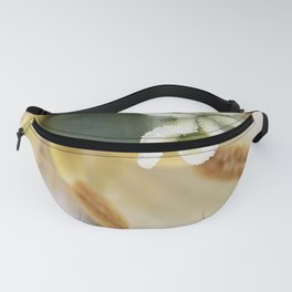 Inside a White Tulip Fanny Pack