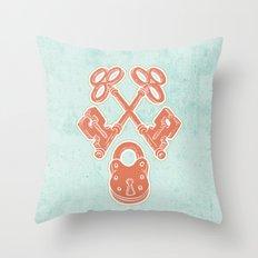 Keys and Lock Throw Pillow