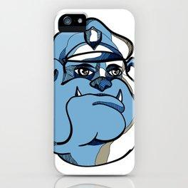 Bulldog Policeman Head Drawing iPhone Case