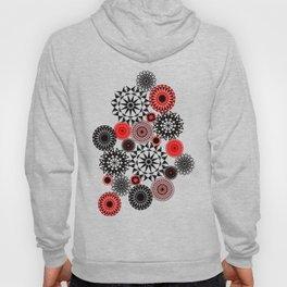 Black/Red Pattern Hoody