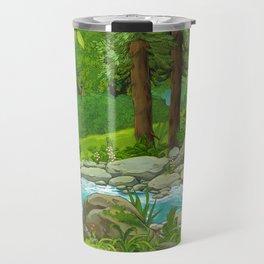 Waterfall and Nature Travel Mug
