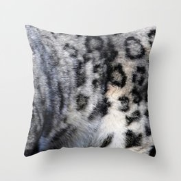 Snow Leopard Wild Cat Pattern Throw Pillow
