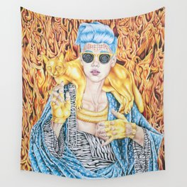 J.B. and the Golden Pussy Wall Tapestry