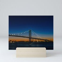 The Ambassador Bridge Mini Art Print