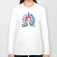 lungs Long Sleeve T-shirts featuring Lungs by Heidi Failmezger