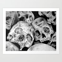 Pile of Skulls II Art Print