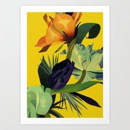 In the yellow light. Art Print