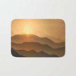 Sunrise in the mountains - beautiful morning - #Society6 #buyart Bath Mat