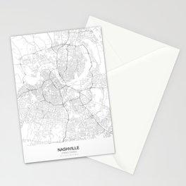 Nashville, United States Minimalist Map Stationery Cards