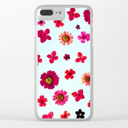 Wildflower Collage Clear iPhone Case