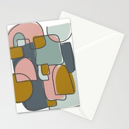 Abstract in Muted Pastels Stationery Cards