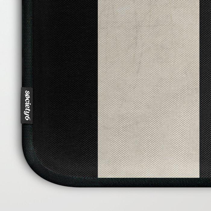 vintage black stripes Laptop Sleeve