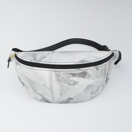 Soft white tree leaves pattern Fanny Pack